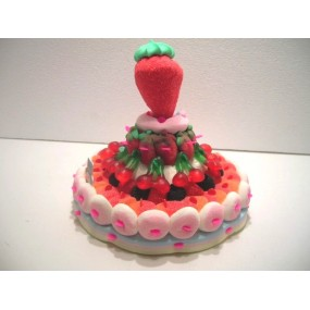Gâteau de bonbon fruits